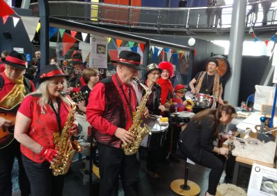 live music at the Maker Faire in Newcastle
