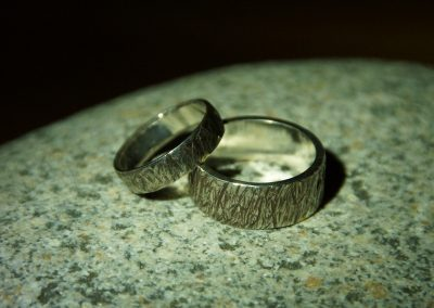 texture rings, for him, for her