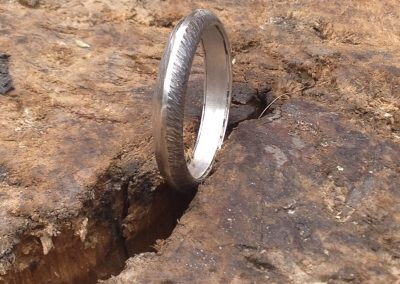 silver ring in the workshop